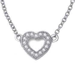 0.18 Cttw Platinum Simulated Diamond Classic Necklaces