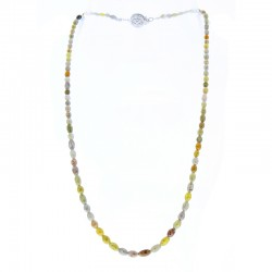 14Kt White Gold Diamond Gemstone Necklace