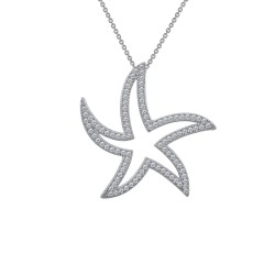 1.00 Cttw Platinum Simulated Diamond Classic Necklaces