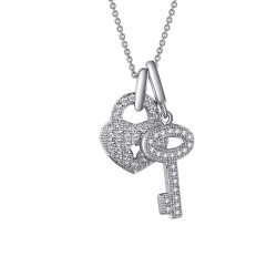 0.46 Cttw Platinum Simulated Diamond Classic Necklaces