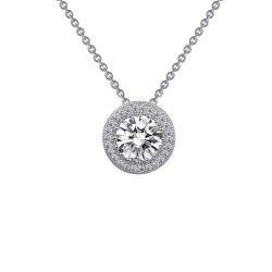 1.54 Cttw Platinum Simulated Diamond Classic Necklaces