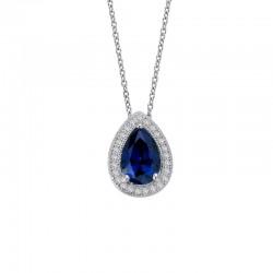 1.58 Cttw Platinum Sapphire Classic Necklaces