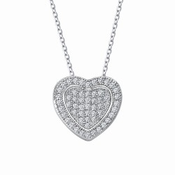 0.56 Cttw Platinum Simulated Diamond Classic Necklaces
