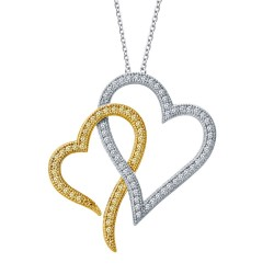 0.83 Cttw Platinum Canary Classic Necklaces