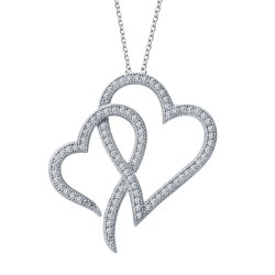0.83 Cttw Platinum Simulated Diamond Classic Necklaces