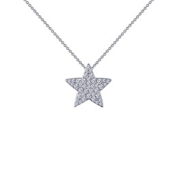 0.41 Cttw Platinum Simulated Diamond Classic Necklaces