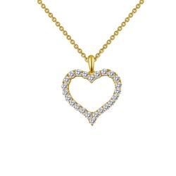 0.96 Cttw Gold Simulated Diamond Classic Necklaces