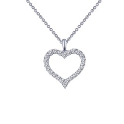 0.96 Cttw Platinum Simulated Diamond Classic Necklaces
