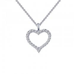 0.96 Cttw Platinum Simulated Diamond Classic Necklaces