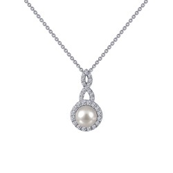 0.4 Cttw Platinum Simulated Diamond Classic Necklaces