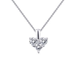 1.11 Cttw Platinum Simulated Diamond Classic Necklaces