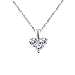 1.11 Cttw Platinum Simulated Diamond Classic Necklaces