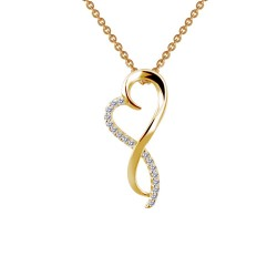 0.17 Cttw Gold Simulated Diamond Classic Necklaces