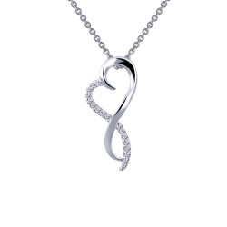 0.17 Cttw Platinum Simulated Diamond Classic Necklaces