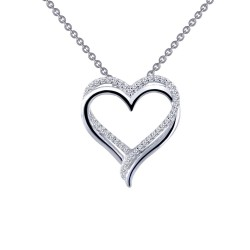 0.43 Cttw Platinum Simulated Diamond Classic Necklaces