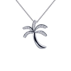 0.26 Cttw Platinum Simulated Diamond Classic Necklaces