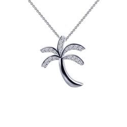 0.26 Cttw Platinum Simulated Diamond Classic Necklaces