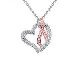 1.04 Cttw Platinum Pink Sapphire Classic Necklaces