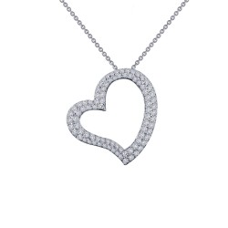 0.86 Cttw Platinum Simulated Diamond Classic Necklaces