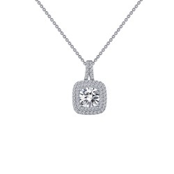 2.06 Cttw Platinum Simulated Diamond Classic Necklaces