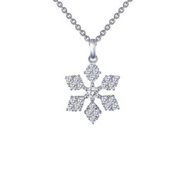 0.59 Cttw Platinum Simulated Diamond Classic Necklaces