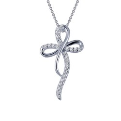 0.25 Cttw Platinum Simulated Diamond Classic Necklaces