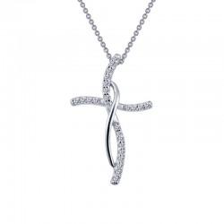 0.24 Cttw Platinum Simulated Diamond Classic Necklaces