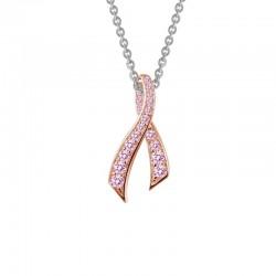 0.27 Cttw Platinum Pink Sapphire Classic Necklaces