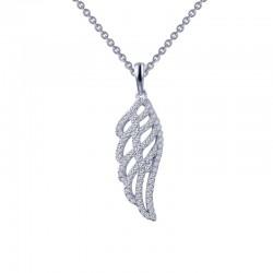 0.76 Cttw Platinum Simulated Diamond Classic Necklaces