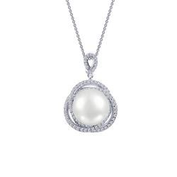 0.95 Cttw Platinum Pearl Classic Necklaces