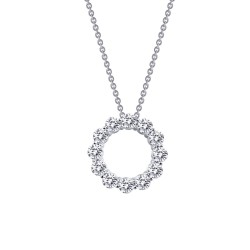 3 Cttw Platinum Simulated Diamond Classic Necklaces