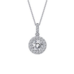 1.13 Cttw Platinum Simulated Diamond Classic Necklaces