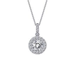 1.13 Cttw Platinum Simulated Diamond Classic Necklaces