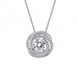 1.65 Cttw Platinum Simulated Diamond Classic Necklaces