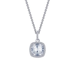 2.3 CTTW Platinum Simulated Diamond Classic Necklaces