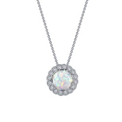 1.08 CTTW Platinum Opal Heritage Necklaces