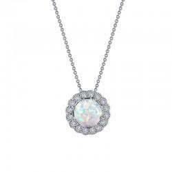 1.08 CTTW Platinum Opal Heritage Necklaces