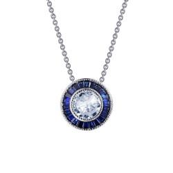 1.45 CTTW Platinum Sapphire Heritage Necklaces