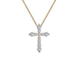 0.67 CTTW Gold Simulated Diamond Classic Necklaces