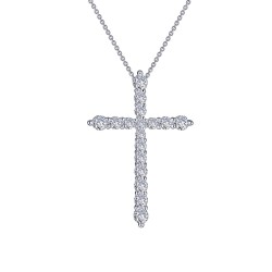 1.06 CTTW Platinum Simulated Diamond Classic Necklaces