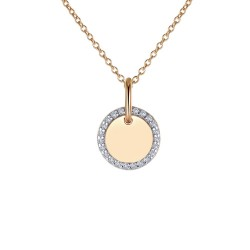0.23 CTTW 2 Tone Simulated Diamond Classic Necklaces