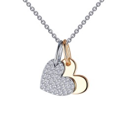 0.35 CTTW 2 Tone Simulated Diamond Classic Necklaces