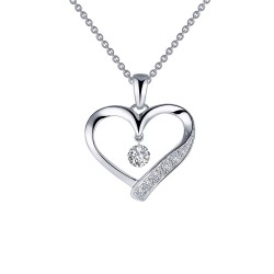 0.42 CTTW Platinum Simulated Diamond Lassaire In Motion Necklaces