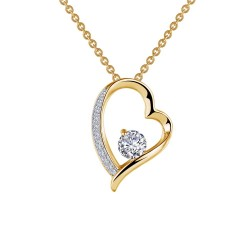0.57 CTTW 2 Tone Simulated Diamond Classic Necklaces