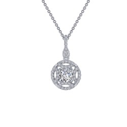 0.86 CTTW Platinum Simulated Diamond Heritage Necklaces