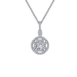 0.86 CTTW Platinum Simulated Diamond Heritage Necklaces