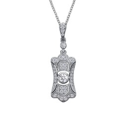 0.46 CTTW Platinum Simulated Diamond Heritage Necklaces