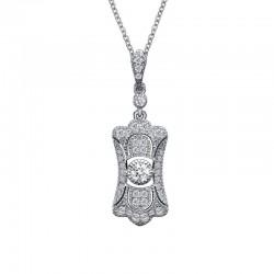 0.46 CTTW Platinum Simulated Diamond Heritage Necklaces