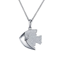 0.93 CTTW Platinum Simulated Diamond Nautical Necklaces