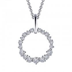 1.75 CTTW Platinum Simulated Diamond Classic Necklaces
